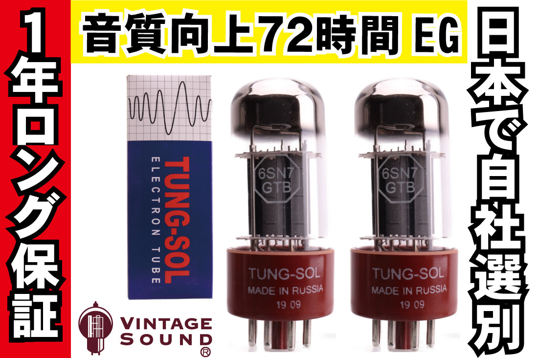 6SN7GT TUNG-SOL 2本マッチ 中ゲイン 真空管PX12 【送料無料】